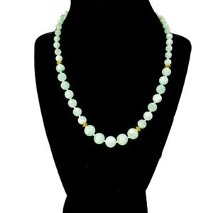 """Green Moonstone Graduated 17"""" Necklace"""